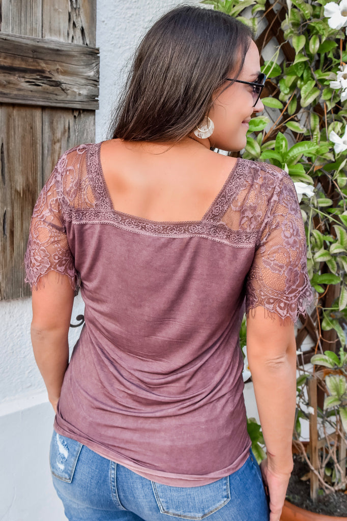 Cranberry Wine Lace Top - Vogue Society