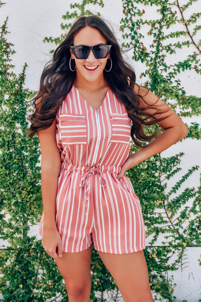 Kamila Striped Romper