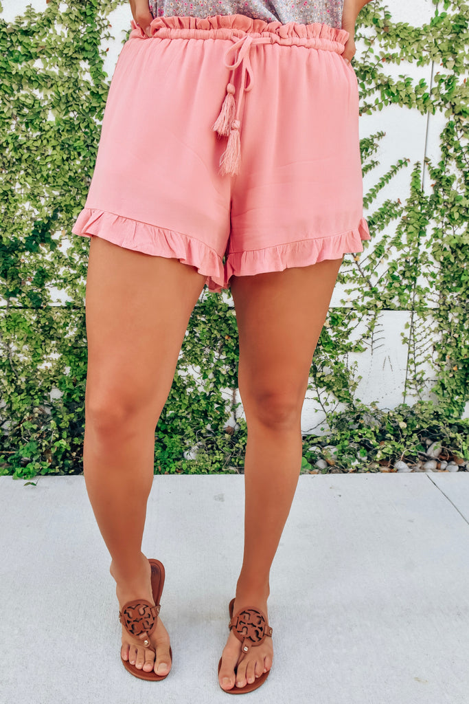 Love Always Pink Ruffle Shorts