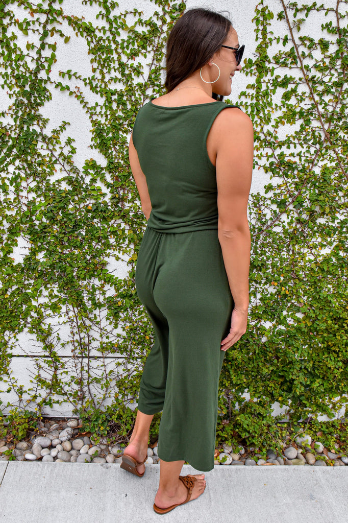 The Jackie Jumpsuit- Army Green