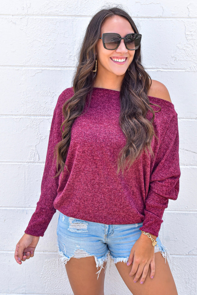 Cranberry Cuddles Oversized Top