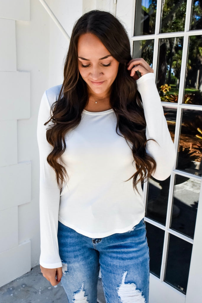 The Perfect Long Sleeve- White