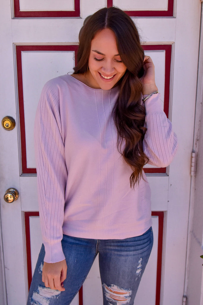 Softest Ever Lilac Sweater - Vogue Society