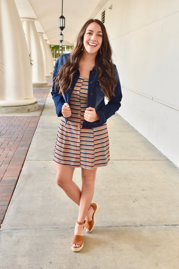 Deep South Striped Dress