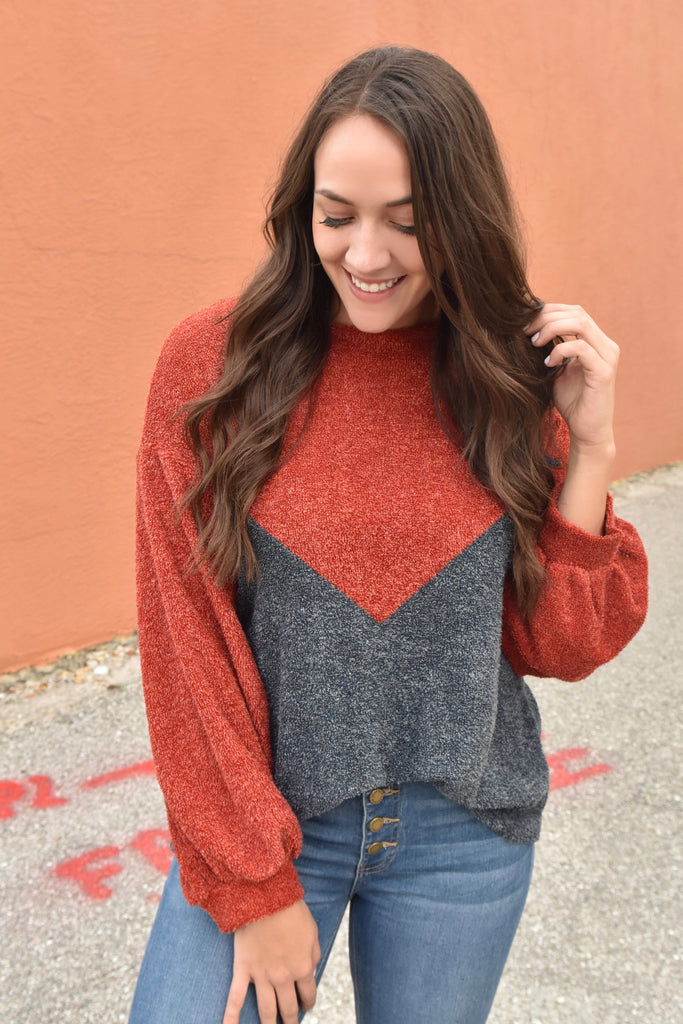 Nights on the Boat Color Block Sweater