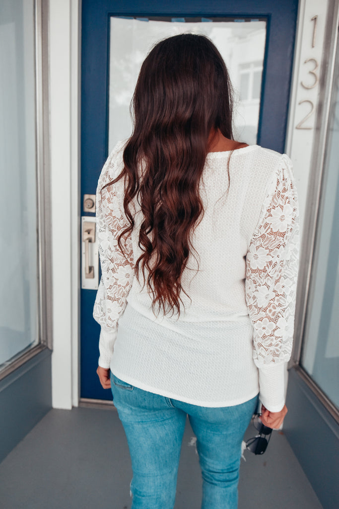 Love Me Like This Ivory Lace Top - Vogue Society