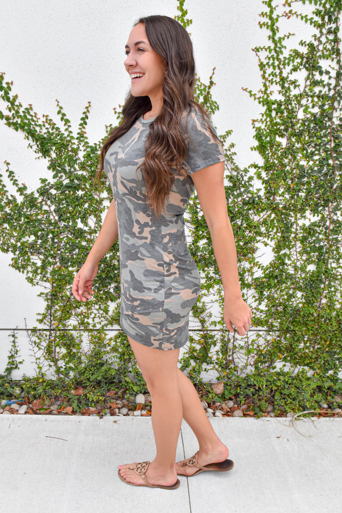 She's In Disguise Camo Dress