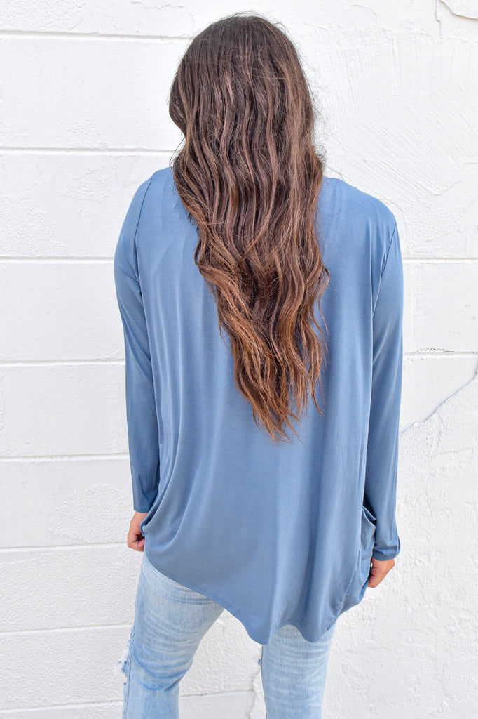 The Boyfriend Cardigan - Blue
