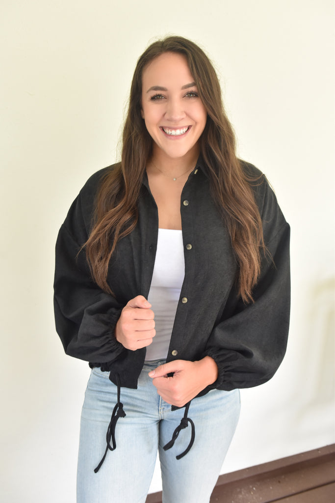 Jackel Black Drawstring Jacket