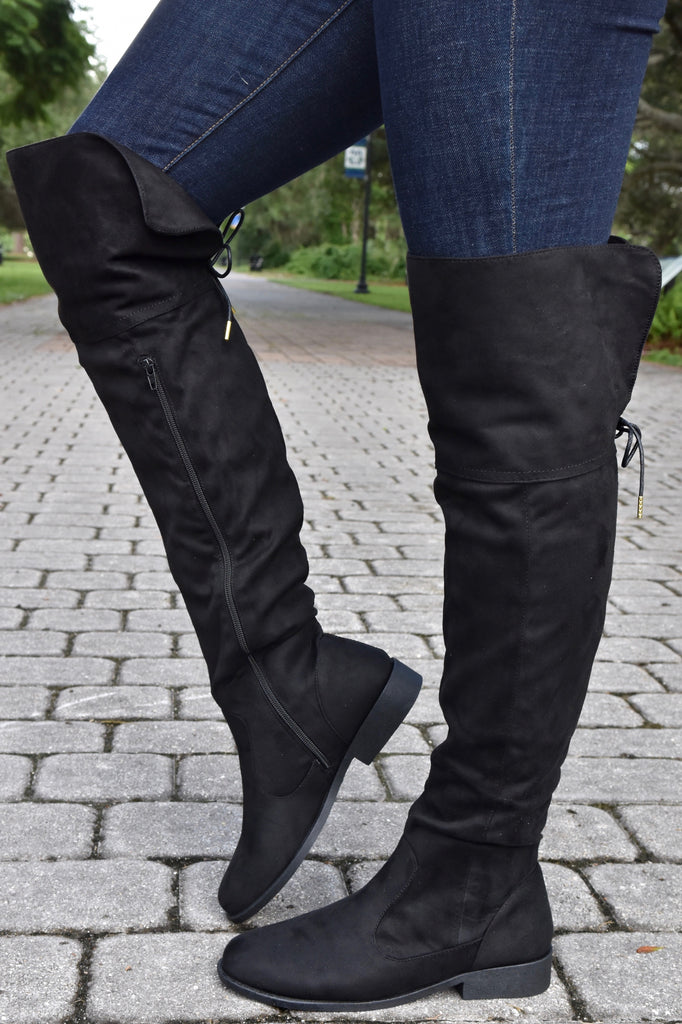 Making Strides Knee High Boot- Black