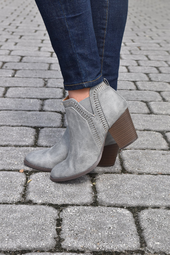 The October Booties- Ash Grey