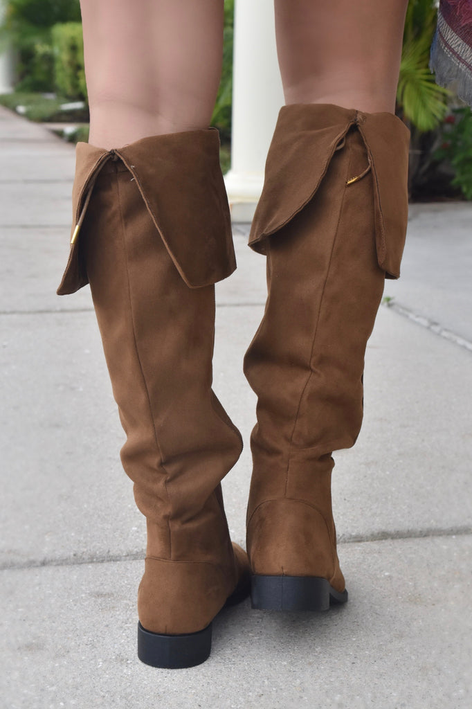 Making Strides Knee High Boot- Chestnut