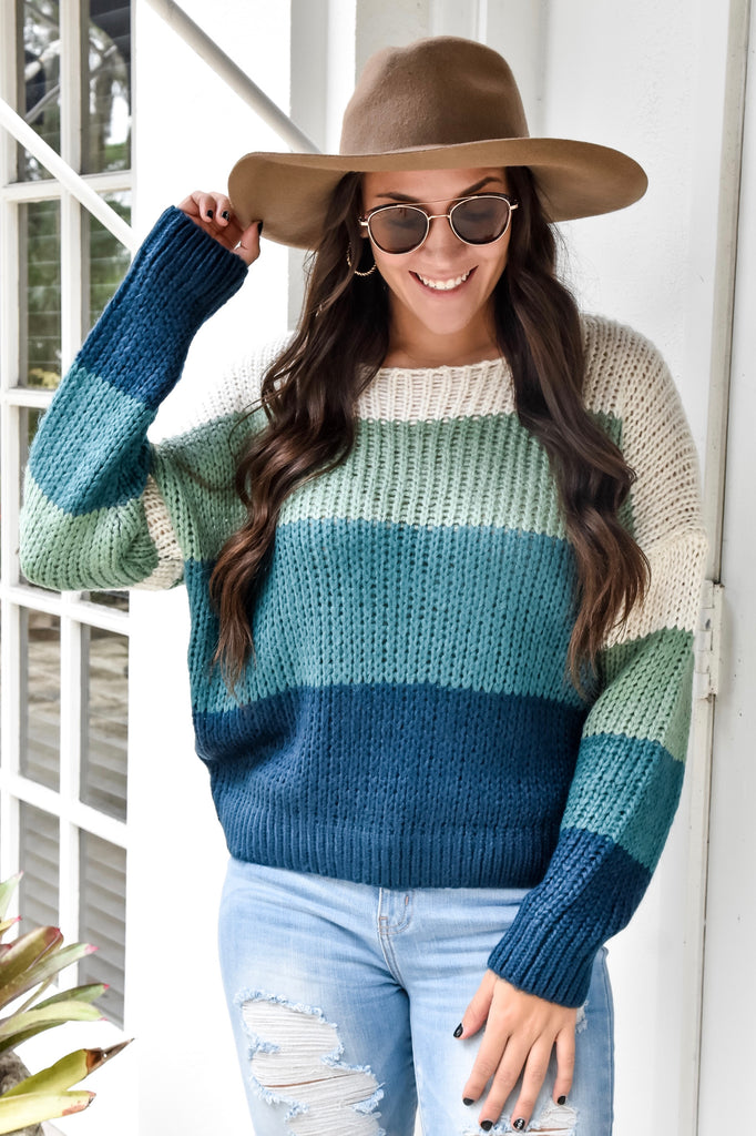 The Jade Striped Sweater