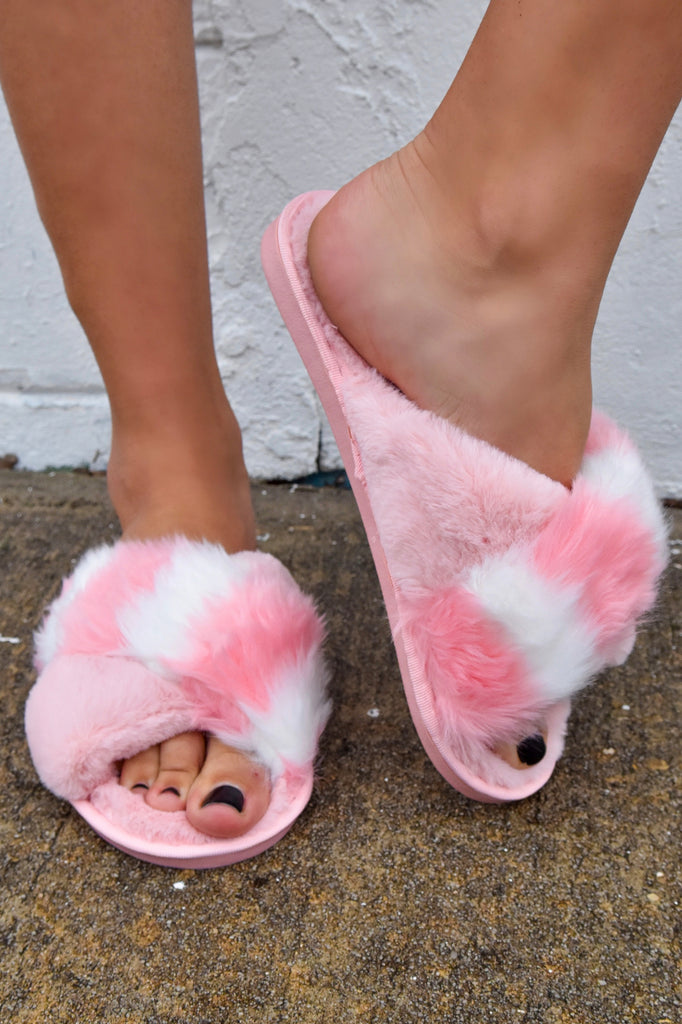 Pretty in Pink Slippers