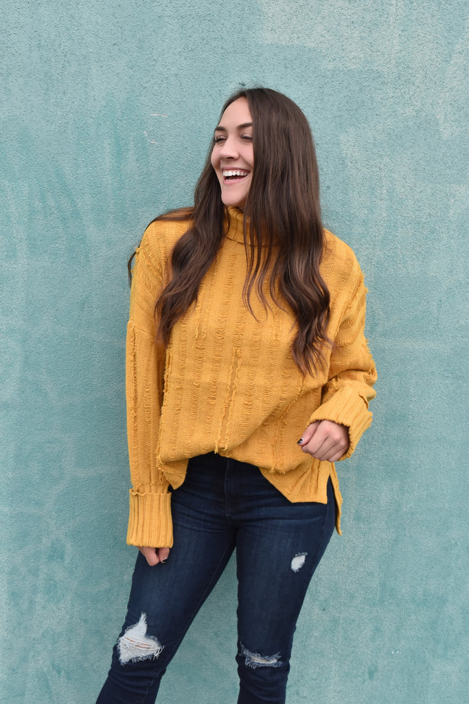 Warm Me Up Sweater - Mustard