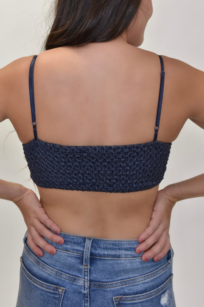 Meet Me At Midnight Navy Bralette - Vogue Society
