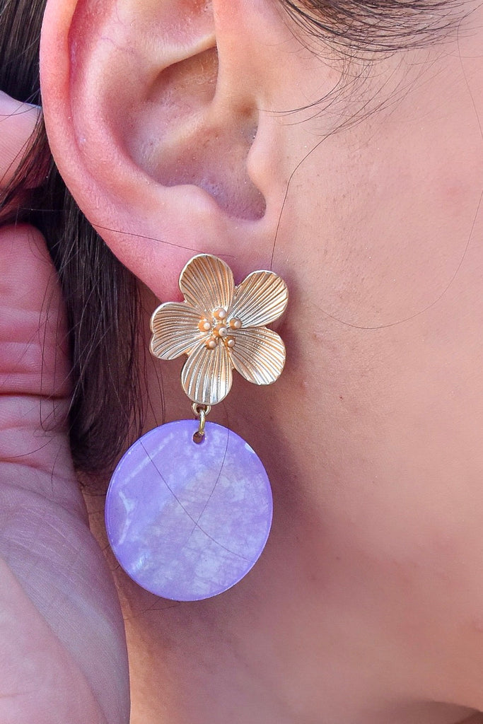 Serenity Lavender Earrings - Vogue Society