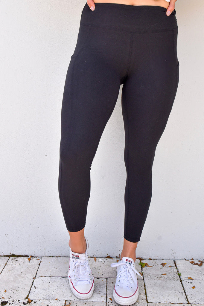 Black Butter Pocket Leggings