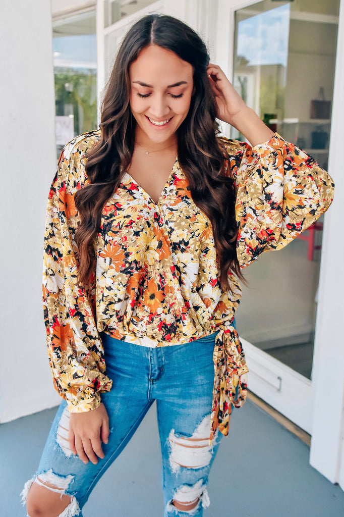 Sunflower Soul Wrap Top - Vogue Society