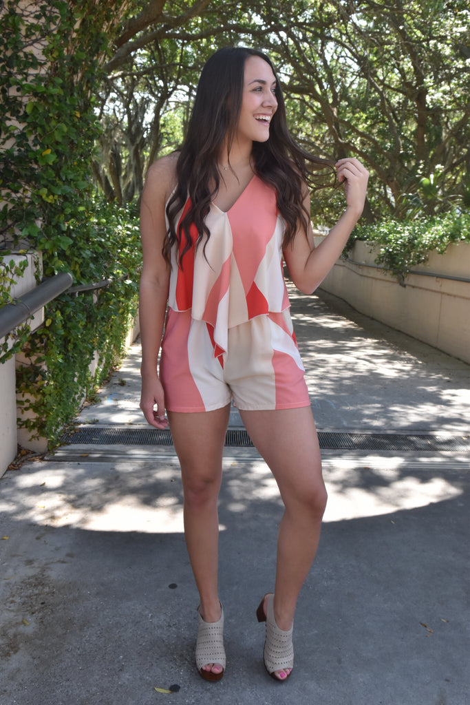 Retro in Red Romper