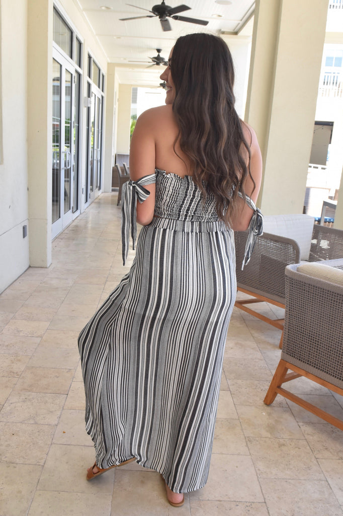 Stripes By The Sea 2-Piece Set- Grey