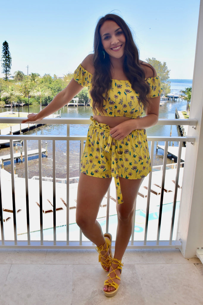 May Flowers Yellow 2-Piece Set