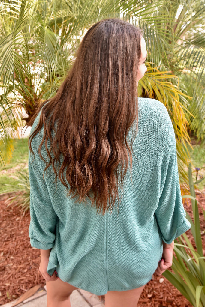 Aqua Blue Summer Cardigan