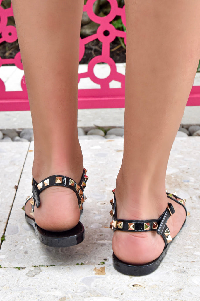 The Stevie Sandal- Black