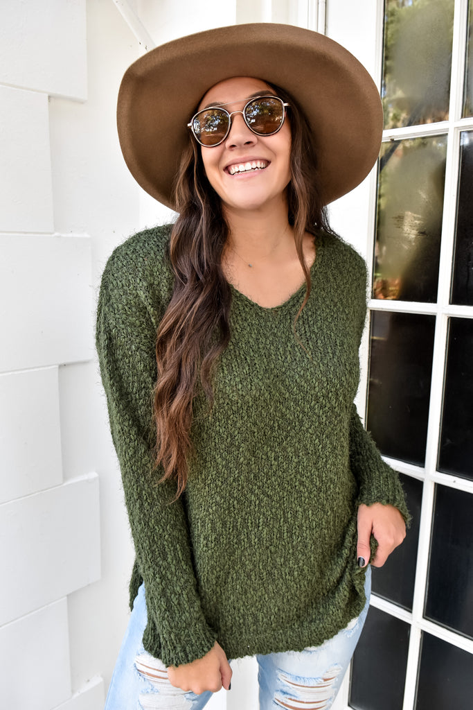 Mountaintops Cozy Sweater- Olive
