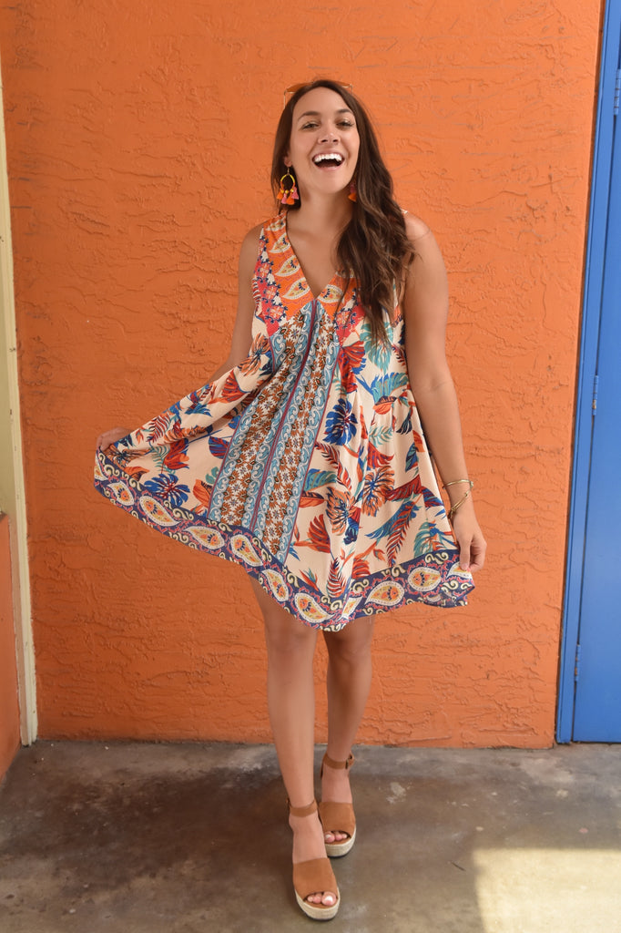 Fiesta Fun Flowy Dress