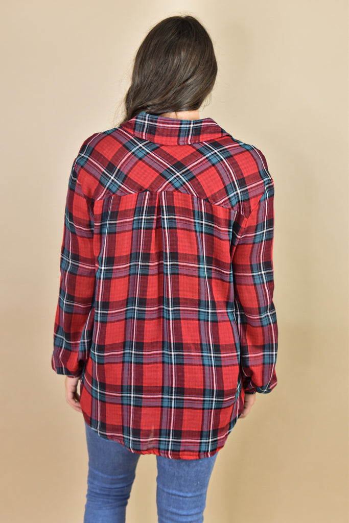 The Georgia Flannel- Red