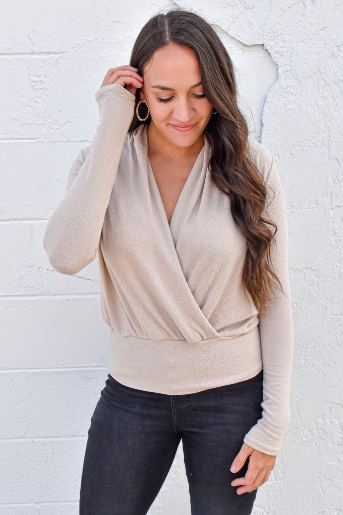 That's So Fetch Top- Taupe