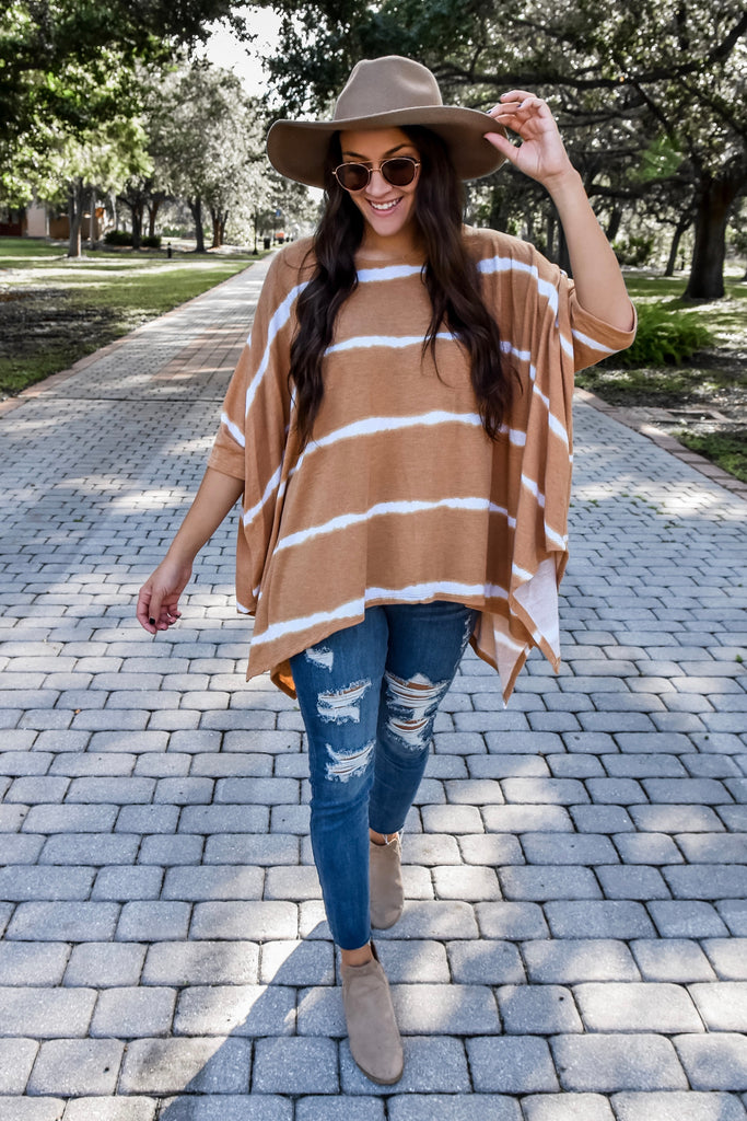 Fierce As You Mustard Poncho Top