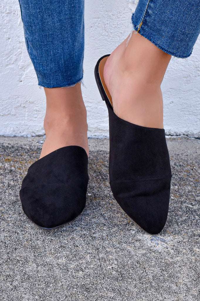 The Classic Black Mules