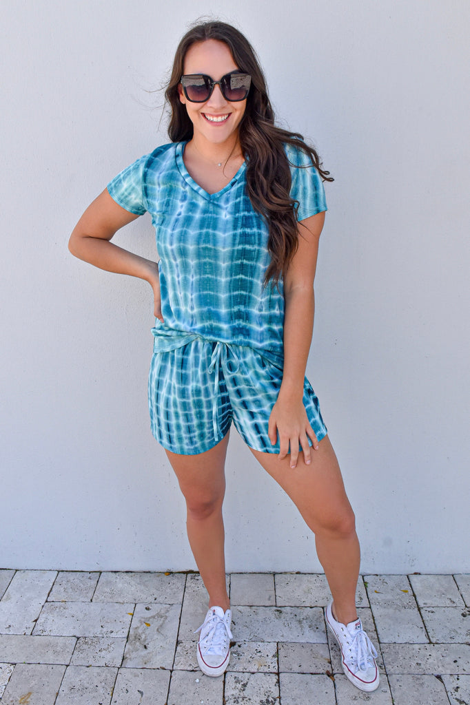 The Good Life Two Piece Set- Teal