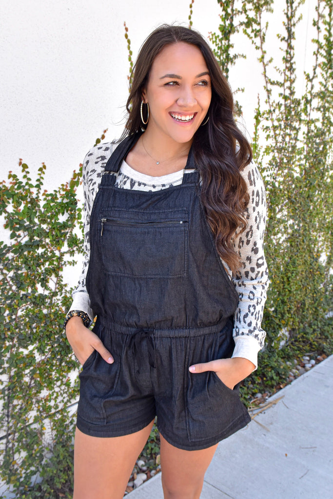 Girlfriend Overalls- Black