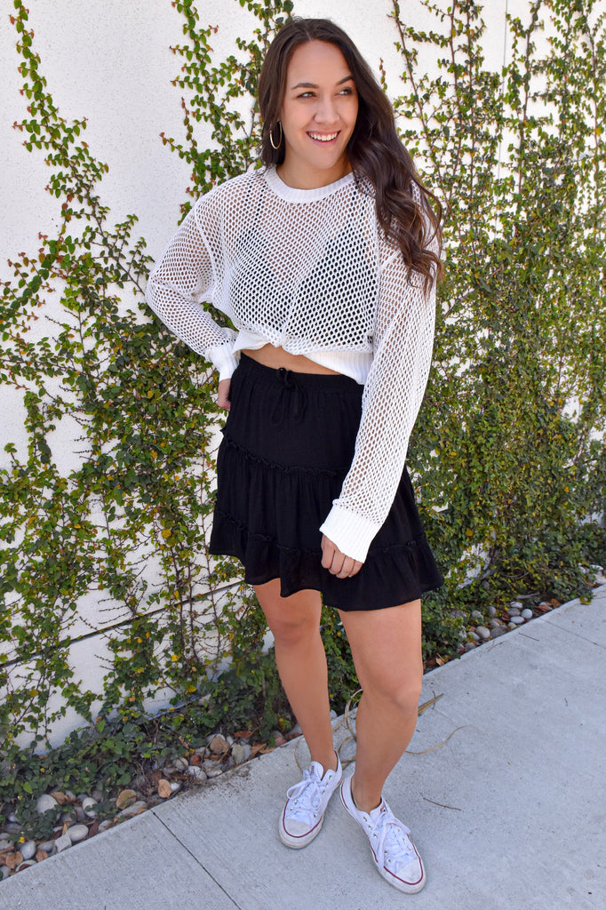 *RESTOCKED*! Summer Daze White Sweater