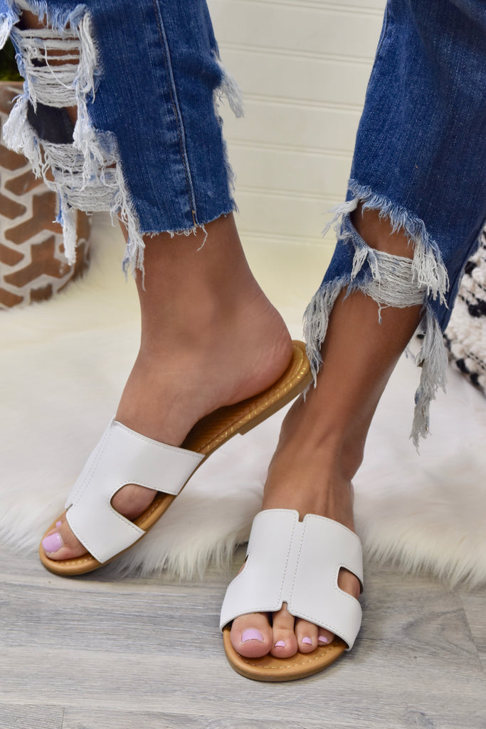 The Lola Sandal- White