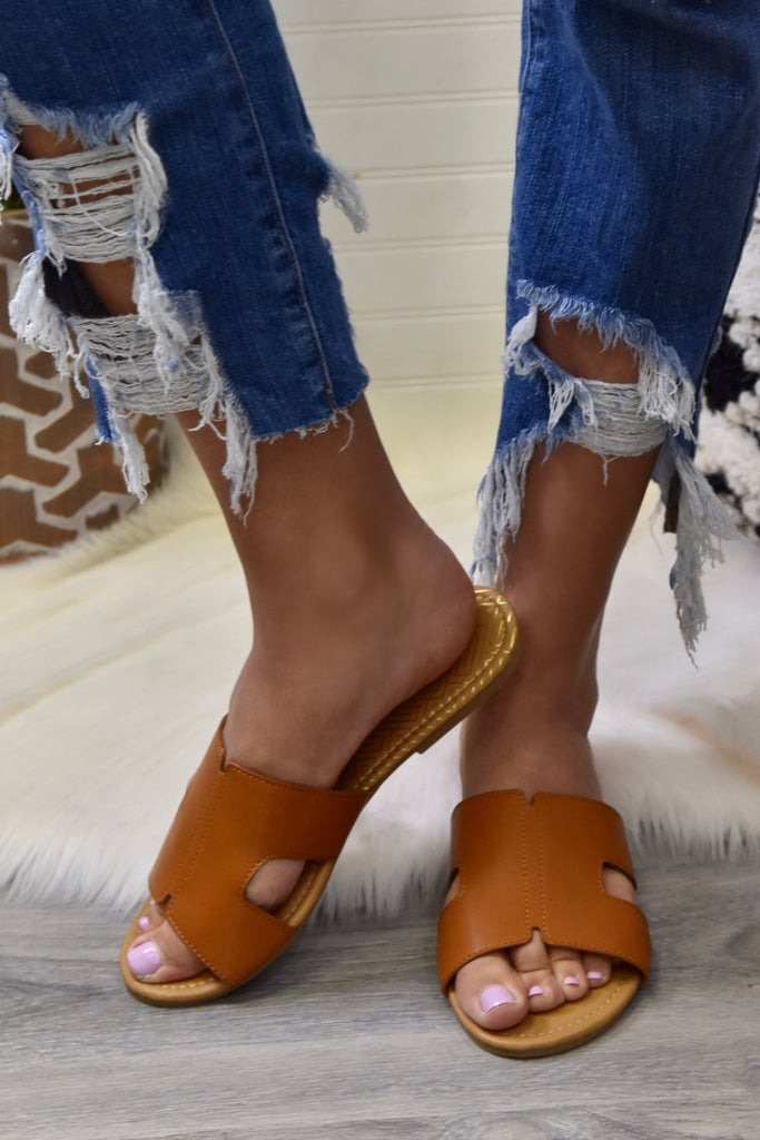 The Lola Sandal- Cognac