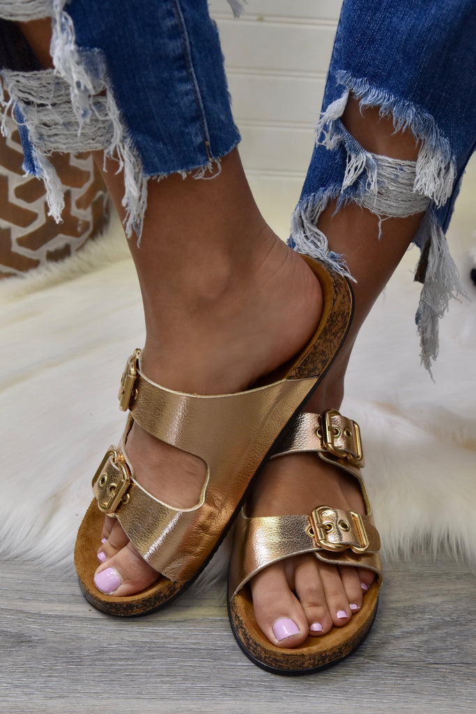 The Myla Rose Gold Sandal