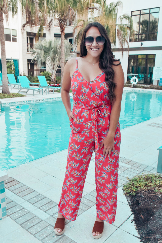 Tropical Kiss Cherry Jumpsuit - Vogue Society