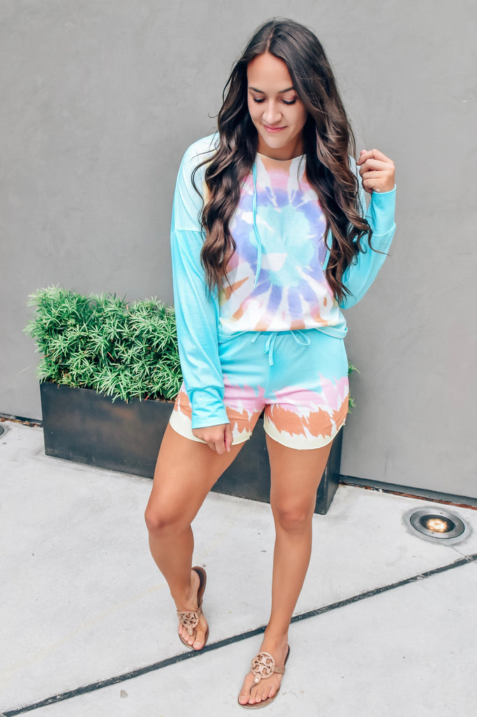 Summer Blues Tie Dye Set
