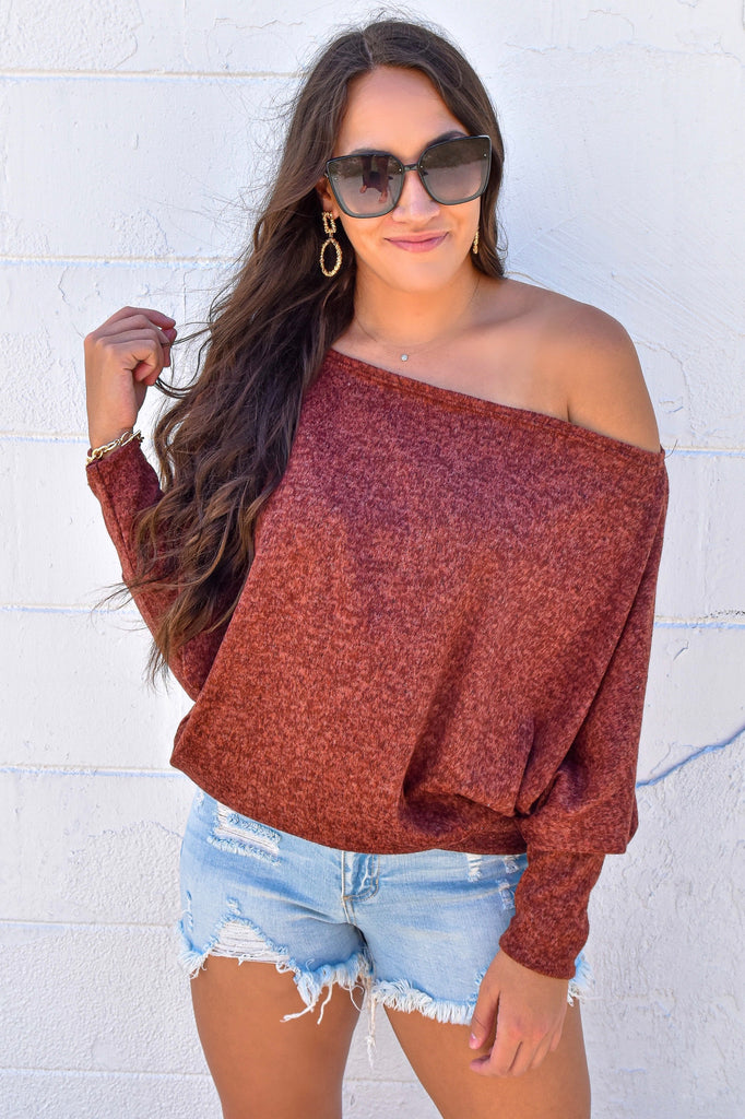 Pumpkin Picking Rust Oversized Top