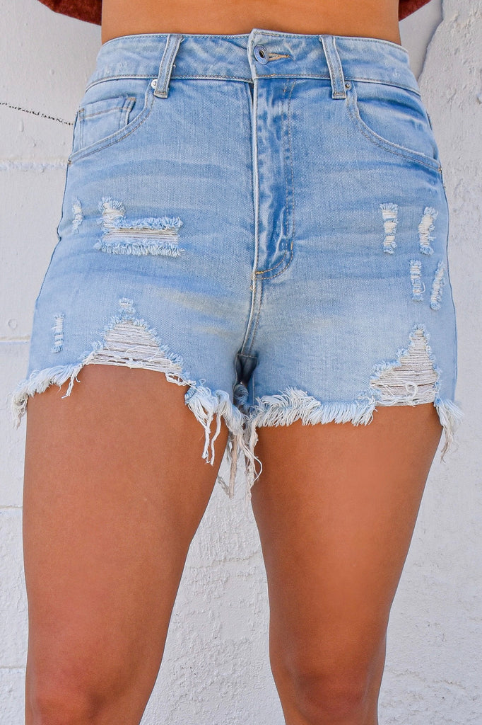 Rock & Roll Destroyed Stretchy Shorts