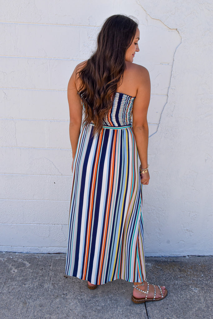 Show Stopper Striped Maxi - Vogue Society
