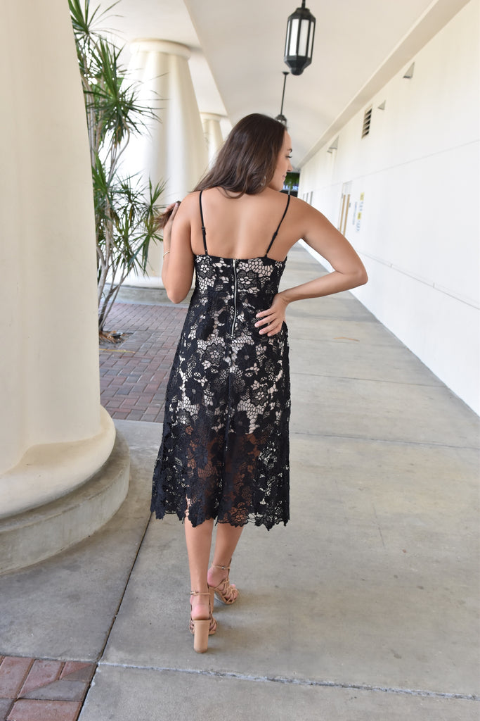 The Black Rose Lace Dress