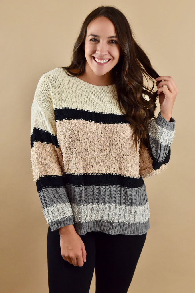 The Sweetheart Sweater- Grey