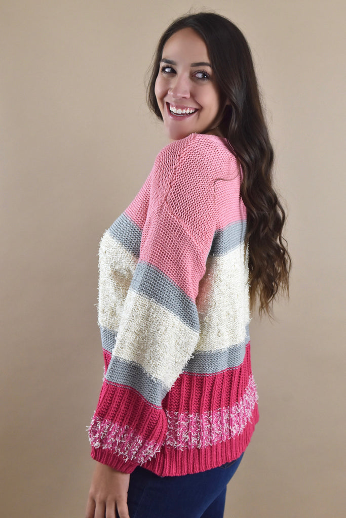 The Sweetheart Sweater- Pink