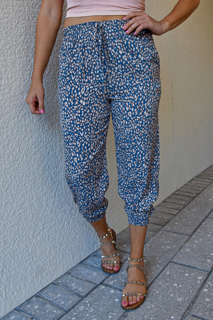 Jungle Blues Cropped Jogger - Vogue Society