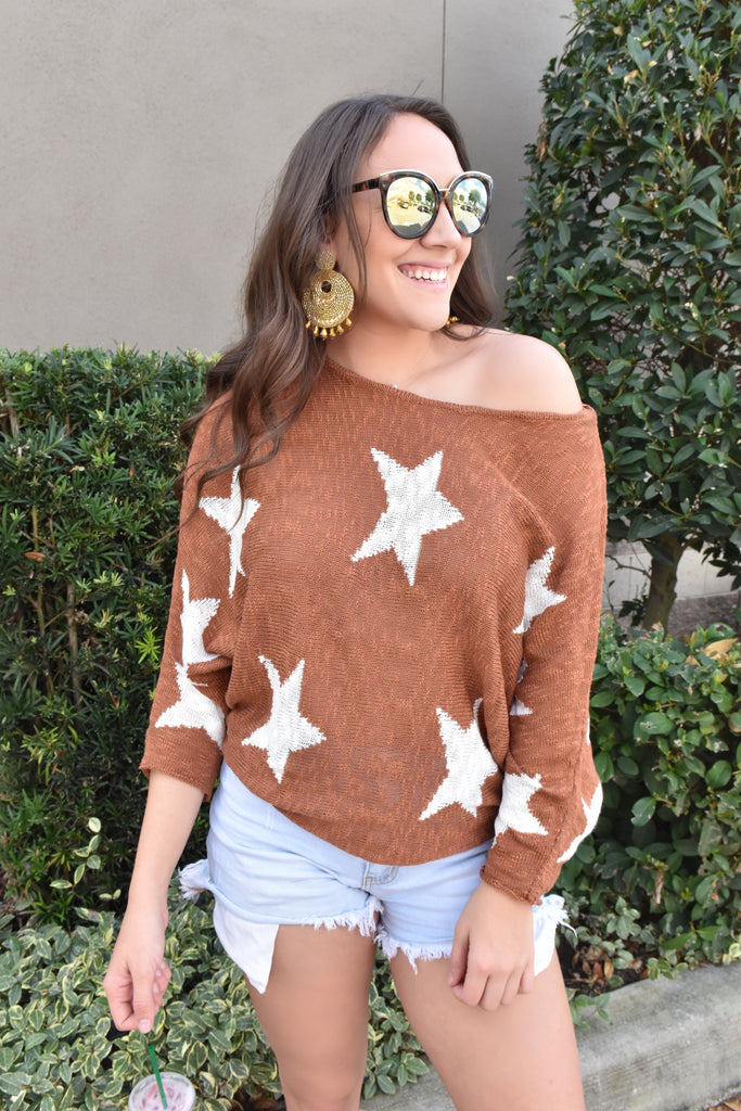 Starry Days Rust Light Sweater